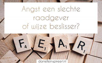 Angst, een slechte raadgever of wijze beslisser?
