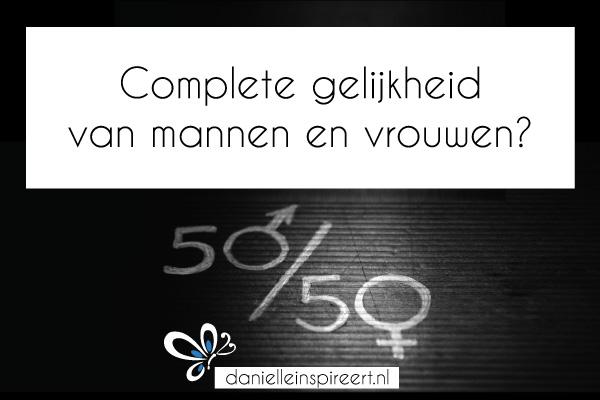 Complete gelijkheid van mannen en vrouwen?
